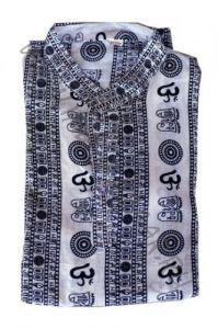 Белая мужская рубашка, символ Ом (СПб)