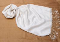 Белый шарф палантин шёлк шерсть, 1600 руб.