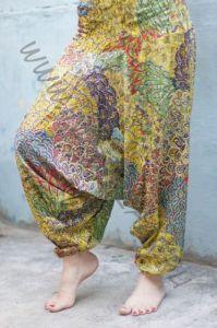 Индийские штаны алладины с разноцветным принтом, на невысокий рост (Москва)