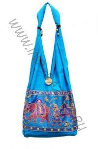 Голубая сумка со слонами