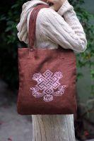 Тибетская сумка из джута, купить в Москве