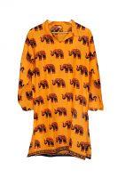 Оранжевая индийская рубашка со слонами, купить в интернет магазине