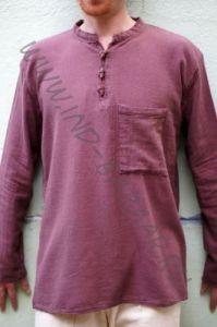 Мужская рубашка из органического хлопка (коричневая)