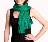Женский шарф из натурального шёлка, зеленый, Москва