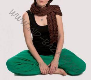 Шоколадный шёлковый шарф (Москва)