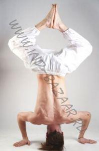 Белые штаны алладины для йоги (Москва)