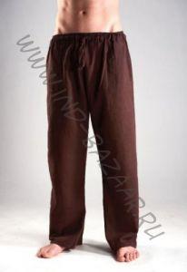 Прямые мужские штаны из органического хлопка