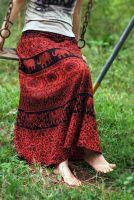 Длинная индийская юбка в пол с запахом (Москва)